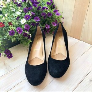Trotters Signature Black Penelope Suede Heels 9.5